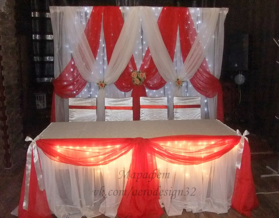 Драпировка свадебного стола своими руками пошагово 38